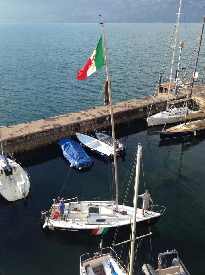 Arcadia in porto a Torri del Benaco